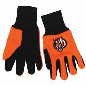 NFL CINCINNATI BENGALS GLOVES KIDS YOUTH SIZE TWO-TONE NEW