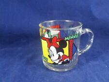 "Mickey & Minnie Mouse GLASS MUG 3 1/2"""