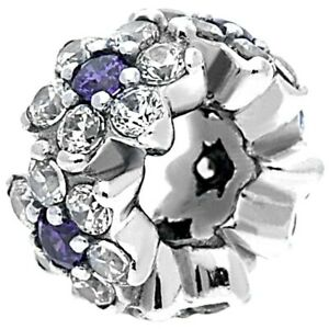 Pandora Charm Sterling Silver 791834ACZ Forget Me Not Spacer S925 ALE