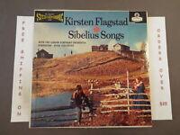 KIRSTEN FLAGSTAD SIBELIUS SONGS FJELDSTAD STEREO LP W/ INSERT LONDON OS 25005