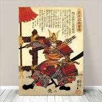 "Awesome Japanese SAMURAI WARRIOR Art CANVAS PRINT 36x24""~ Kuniyoshi  #067"