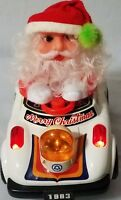 Vintage 1983 Christmas Santa Bump'G Go Cartoon Electronic I C Music Car SA 171L