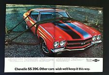 1970 Chevrolet Chevelle SS 396 General Motors car mag ad print gift 1971 1969