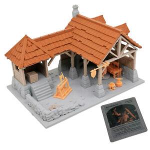 Outland Tactics War Games Miniatures Human Blacksmith Shop & Figure Set 28mm
