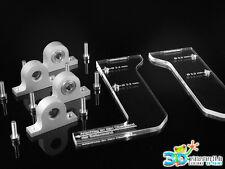 4 x Aluminium Lagerbock mit Kugellager & Bohrschablonen für z.B. CTC 3D-Drucker