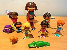 Dora the Explore Mattel 2005 Alligator Action Figure+Dora and Friends Bundle