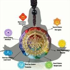 Chakra Energy Necklace Meditation Orgonite Pendant Sri Yantra Charm Jewelry