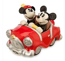 Disney Parks Mickey And Minnie Mouse Salt And Pepper Shaker Retro Car NIP GIFT