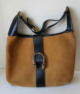 Used vintage Gucci Jackie Dionysus Tom Ford era suede leather hobo shoulder bag