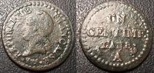 France - Directoire - 1 centime Dupré l'an 8 A, Paris 53/50 RARE - F.100/17