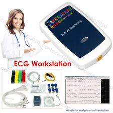 Updated ECG Workstation System, 12-lead Resting PC base EKG Machine, contec