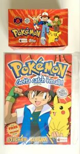 Pokemon 1999 Merlin Topps Series 1 Box 100 Packets and 1 Magazine - New -Vintage