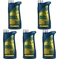5x1 Liter MANNOL Kühlerfrostschutz Typ G13+ Antifreeze Advanced gelb Konzentrat