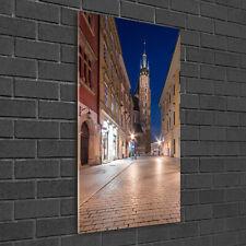 Wandbild Kunst-Druck auf Hart-Glas senkrecht 50x100 Krakau Polen