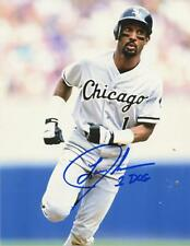 LANCE JOHNSON 1 DOG RUNNING CHICAGO WHITE SOX SIGNED AUTOGRAPHED 8x10 PHOTO W/CO