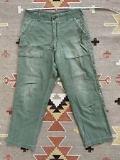 Vtg OG-107 Fatigue Army Pants Vietnam 1960s Military 31 32 Custom Stitch Repairs
