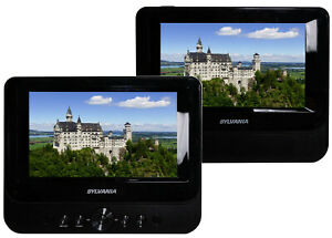 "Sylvania Portable 7"" Dual Screen DVD Player 