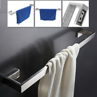 60cm Stainless Steel Bathroom Square Double Towel Rail With Rack Bath Holder