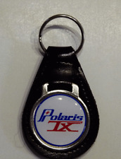 Reproduction Vintage Polaris TX Snowmobile Medallion Style Leather Keychain