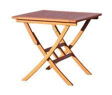 Gartentisch 80x80cm Klapptisch Santos  Balkontisch Holztisch Bistrotisch