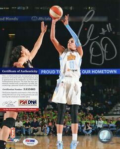 Elena Delle Donne WNBA Chicago Sky Signed AUTOGRAPH 8 x 10 Photo PSA DNA