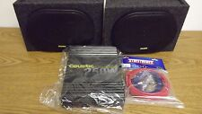 MTX AUDIO COUSTIC 6X9 CAR AUDIO SPEAKERS 250C2 250 WATT AMPLIFIER 8AWG AMP KIT