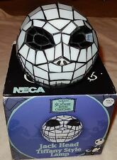 NECA The Nightmare Before Christmas Tiffany Style Jack Skellington Head Lamp