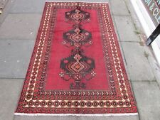 Shabby Chic Old Traditional Hand Made Persian Oriental Red Wool Rug 192x116cm