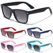 Детский ретро перемотка солнцезащитные очки для мальчиков и девочек, прорезиненный мягкой оправе на 3-12 лет