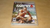 PS3 FARCRY 3 Sony Playstation 3 Video Game w/ Manual 2012 Clean Ubisoft