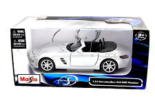 Maisto Mercedes Benz Sls Amg Roadster Silver 1/24 Diecast Car 31272Sil