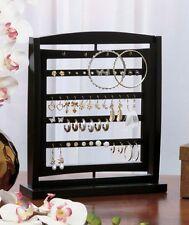 Wooden Revolving Jewelry Display Holder Organizer Storage Rack Accent Decor