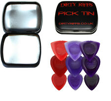 9 Dunlop Stubby Guitar Picks Variety - Big, Small & Tri - In A Handy Pick Tin