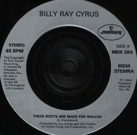 "BILLY RAY CYRUS these boots are made for walkin' MER 384 mercury 1992 7"" WS EX/"