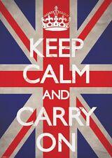 RIESEN Poster KEEP CALM - & Carry On  ca100x140cm NEU XL876