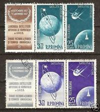 ROMANIA # C49-52 SPUTNIKS 1 & 2 CIRCLING EARTH