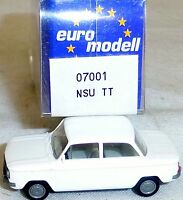 NSU Tt Voiture Blanc imu / Modèle Européen 07001 H0 1/87 Emballage # Ll 1 Å