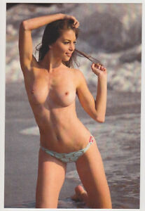 Postcard Pinup Risque Nude Stunning Girl Extremely Rare Photo Post Card 6460