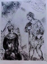 Marc Chagall offset lithograph Bible  paris maeght 1960 original  2 sided 133