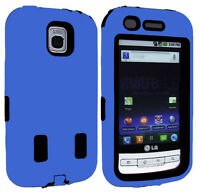 LG Optimus M MS690 IMPACT RESISTANT Hard Rubberized Phone Case Cover Accessory