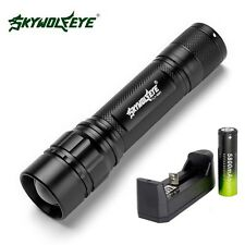 6000 LM 3 Modes CREE XML T6 LED Flashlight Focus Lamp 18650 Battery+Charger