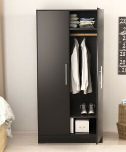 Black Wardrobe Closet