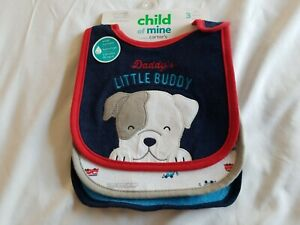 Child Of Mine By Carter's Bibs, 3-pack Daddys Co Pilot..New