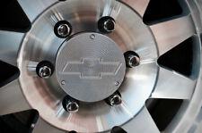 Set of 4 Custom Machined Method Race Wheel Center Cap Chevrolet 108mm with Logo