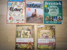 5 Zeitschriften FLOW - SLOW - HERZSTÜCK - DAPHNES DIARY - NEU z.T. Erstausgaben!