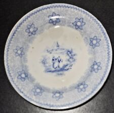 Antique c1860, Child's Toy Plate, Romantic Transfer Pattern, English Pearlware