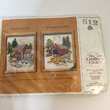 "NEW. The Creative Circle Embroidery Kit #512 Pine Valley Mill 8"" X 10"" 1982"