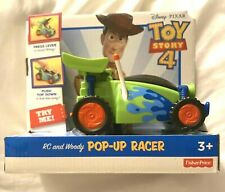 Disney Pixar TOY STORY 4 RC and WOODY Pop-Up Racer Vehicle NEW!