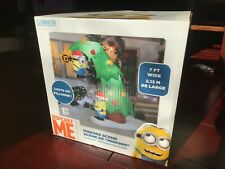 ~ ~ VERY RARE ~~ 2016 GEMMY MINIONS CHRISTMAS TREE INFLATABLE ~ NEW ~ $245.00