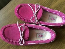 Girls UGG Australian pink slippers UK13 fur lining barely worn
